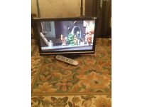 """Techwood 22"""" lcd black TV with in built DVD and freeview. SOLD"""