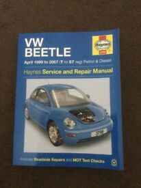 Haynes manual for VW Beetle 1999-2007