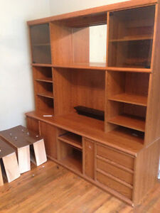 $150· Solid wall unit fits 32 inch TV and lot of space 72 wide
