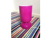 Hot pink ceramic bedside table lamp