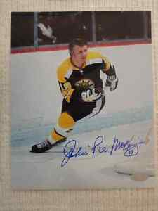 JOHN MCKENZIE Boston Bruins Autographed 8 X 10 Photo With COA