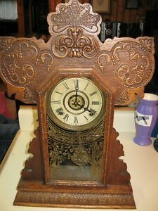 Early 1900's Gingerbread Clock Pristine working Condition