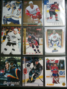Binder Sheet of NHL Rookie Cards