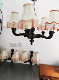 Wall and ceiling light set