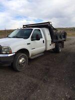 2002 ford f-450 single axle dump truck