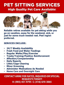 Anne's pet sitting service