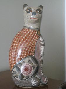 Mexican Folk Art Ceramic Cat by Solis