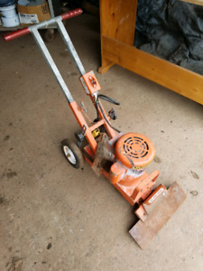 Floor stripping machine