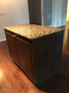 Kitchen Island with Granite Top