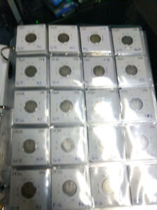 Canadian Dime Coin Collection