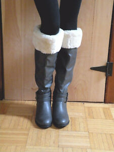 Bottes cuissardes fausse fourrure / Tigh high boots faux fur