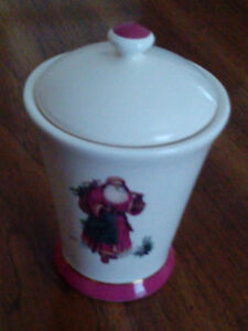 Christmas Vase & Lid with Red Candle