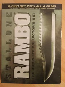 Rambo collector's set dvd all 4 Films