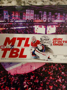 Canadiens VS Tampa Bay JEUDI le 27 oct