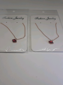💋Hot New 925S.S Lipstick Flying Kiss Necklace Red Lips