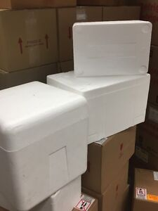 styrofoam coolers 3 sizes and ice packs