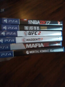 6 ps4 games for sale.
