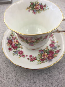 Vintage Paragon cup and saucer Flower Festival pattern