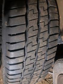 Renault traffic van tyres