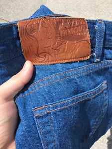 Naked & Famous Weird Guy 32x34 Natural Selvedge Lightly Used