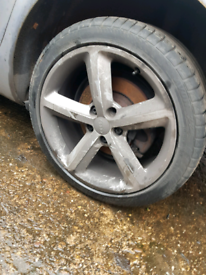 """Set of 4, 18"""" inch audi alloy wheels rim with tyre A3 A4 A6 golf leon"""