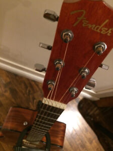 Fender Accoustic/Electric Hybrid guitar with Case