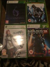 Final fantasy 13, resident evil 6, mass effect 3 & assassins creed Xbox 360 games