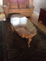 Marble antique coffee table