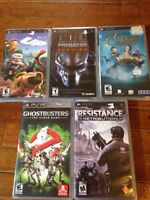 PSP Xbox play station games