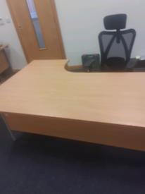 1800 mm beech managers corner office desk
