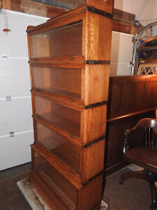 antique barrister bookcase 5 levels, 120 years old