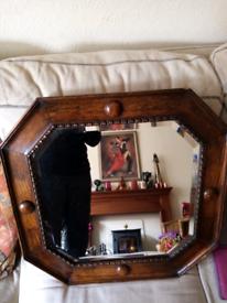 Oak Arts and Crafts mirror