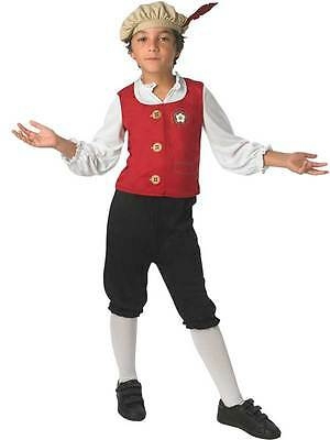 Boys Tudor Costume Medieval Renaissance Prince Book Week Kids Fancy Dress Child