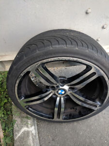 Good set of 4 BMW M5 rims and tires - $900 OBO