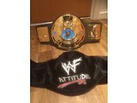 WWF ATTITUDE DELUXE WORLD HEAVYWEIGHT WRESTLING BELT WWE