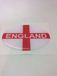 St George's England Resin Domed 3D Flag Car Badge Oval Sticker