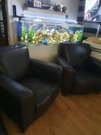 Leather armchairs x 2 PENDING