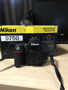 Nikon D750 22000 clicks + accessories