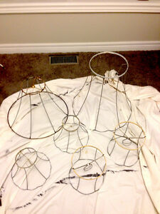 Antique wire frame lamp shades London Ontario image 1