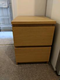 IKEA Malm Chest of drawers in oak veneer 40x55cm