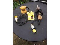 Dewalt 110v Angle Grinder and Palm sander