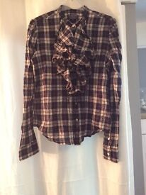 Ralph Lauren checked shirt/blouse M
