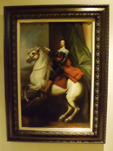 PAINTINGS CLASSICAL OIL ON CANVAS - LOUIS XV - CADRE HUILE SUR T