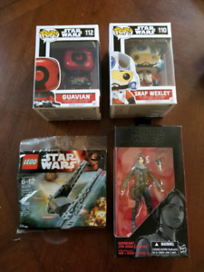 Star Wars Bundle of Collectibles Funko Pops Black Series Lego