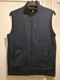 M&S Men's Teens Winter Warm Navy Blue Fleece Gilet S