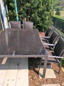 Matching outdoor tables and chairs