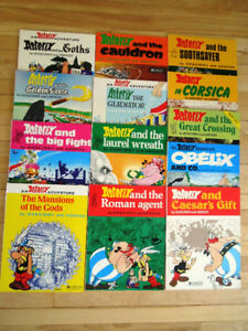 13 comic books in English of Asterix, in great condition