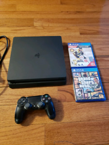 PS4 SLIM 1TB With 2 games