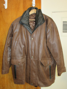 3X Men's Lined Leather Jacket Mint Condition