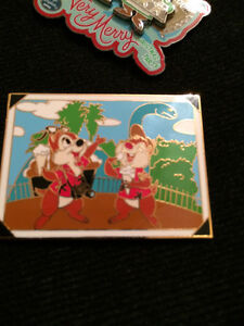 Chip & Dale Tinkerbell Disney Rare Retired Ltd Ed Pins